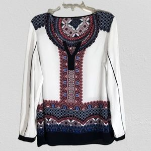 Adrianna Papell Multi-colored Blouse Size …